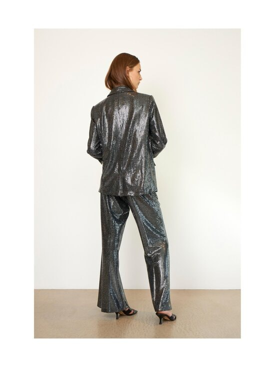 SECOND FEMALE - Fontaine Trousers -housut - 7019 SILVER   Stockmann - photo 5