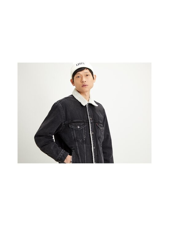 Levi's - Sherpa Trucker -farkkutakki - BLACK | Stockmann - photo 5