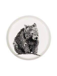 Maxwell&Williams - Wombat-lautanen 20 cm - BLACK/WHITE | Stockmann
