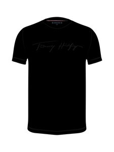 Tommy Hilfiger - Signature Graphic Tee -paita - BDS BLACK   Stockmann