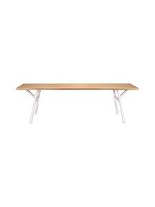 Hakola - Woody-tammipöytä 90 x 220 cm - TAMMI/VALKOINEN   Stockmann