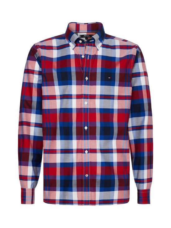 Tommy Hilfiger - TH Flex Multicolour Check Shirt -kauluspaita - 0QJ PRIMARY RED / PHTHALO BLUE / MULTI | Stockmann - photo 1