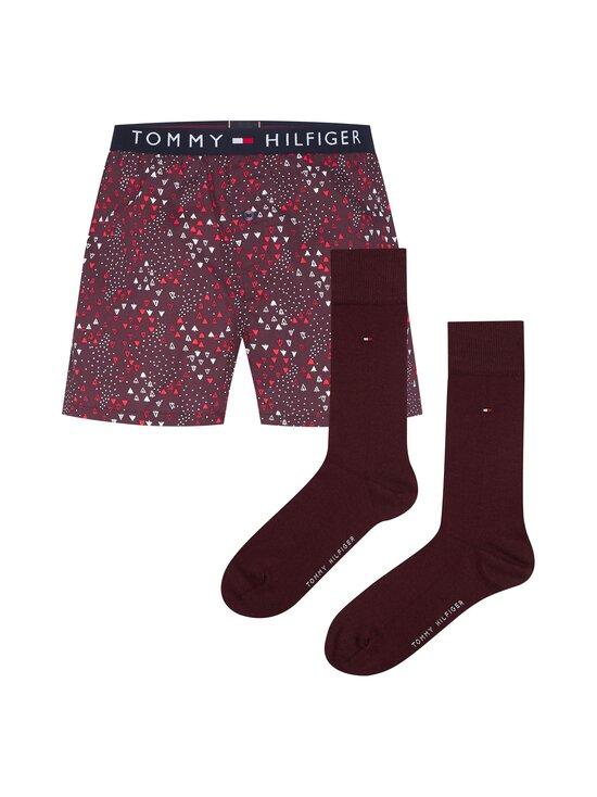 Tommy Hilfiger - Woven Boxer & Sock Set -pakkaus - 0WE DEEP BURGUNDY/DEEP BURGUNDY | Stockmann - photo 1