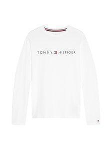 Tommy Hilfiger - C-Neck LS Tee Logo -paita - YBR WHITE | Stockmann