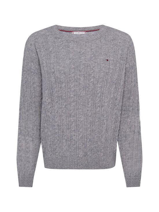 Tommy Hilfiger - Softwool Cable C-NK -villaneule - PKH LIGHT GREY HEATHER | Stockmann - photo 1