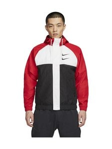 Nike - Swoosh Hooded -takki - 657 UNIVERSITY RED/WHITE/BLACK/BLACK | Stockmann