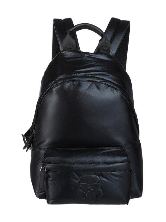 Karl Lagerfeld - K/Ikonik Nylon Medium Backpack Metallic -reppu - 980 MTLLC BLK | Stockmann - photo 1