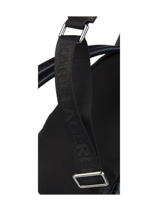 Karl Lagerfeld - K/Ikonik Nylon Medium Backpack Metallic -reppu - 980 MTLLC BLK | Stockmann - photo 3