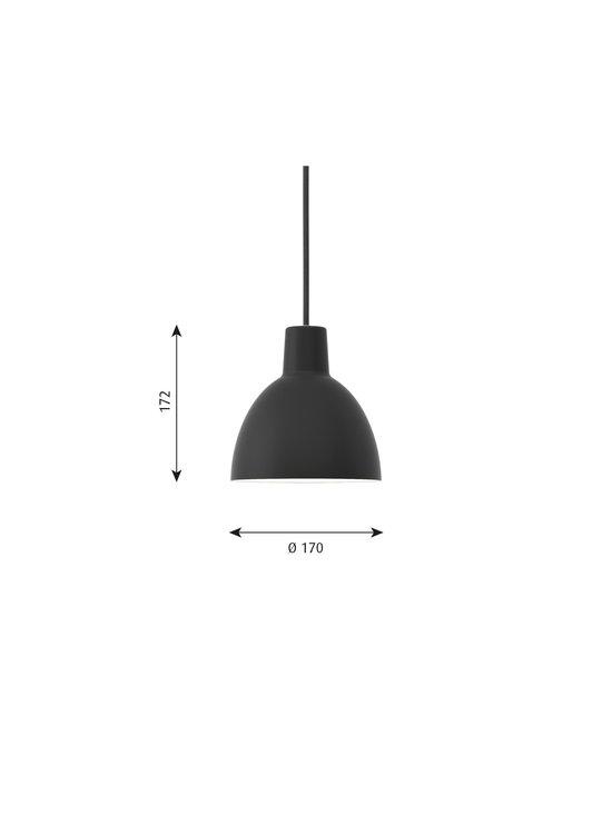 Louis Poulsen - Toldbod-riippuvalaisin Ø 17 cm - BLACK | Stockmann - photo 2