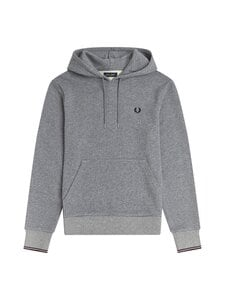 Fred Perry - TIPPED HOODED -collegehuppari - 420 STEEL MARL   Stockmann