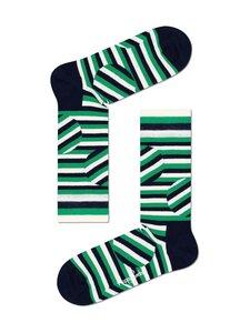 Happy Socks - Jumbo Dot Stripe -sukat - 7300-GREEN | Stockmann