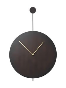 Ferm Living - Trace-seinäkello - BLACK/BRASS | Stockmann