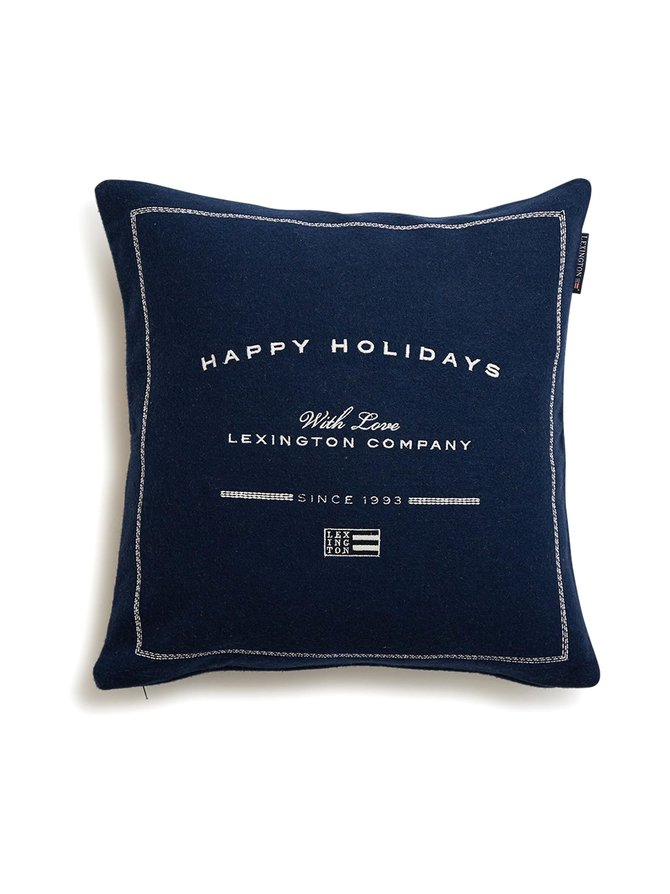 Happy Holiday -tyynynpäällinen 50 x 50 cm