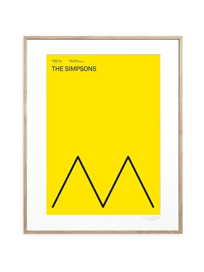 Iconic TV by Exergian The Simpsons -juliste 30 x 40 cm