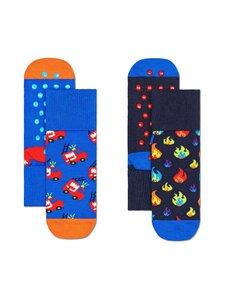 Happy Socks - Firetruck Anti Slip -sukat 2-pack - 6300-BLUE | Stockmann
