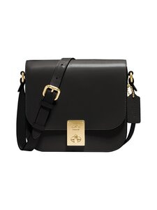 Coach - Box Hutton Saddle Bag -nahkalaukku - B4/BLACK | Stockmann