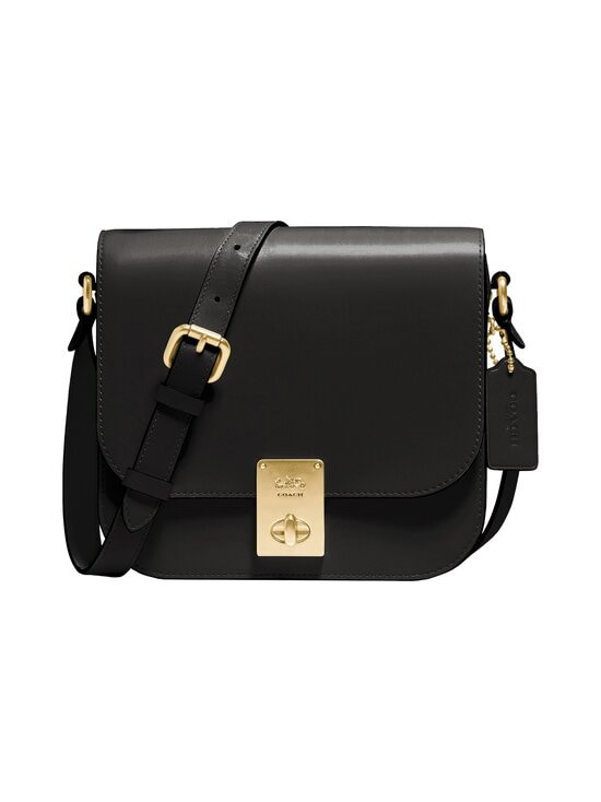 Coach - Box Hutton Saddle Bag -nahkalaukku - B4/BLACK | Stockmann - photo 1