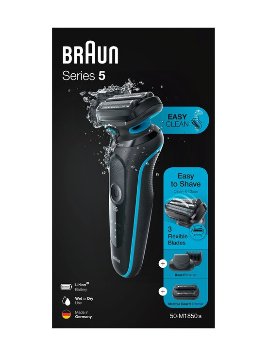 Braun - Series 5 50-M1850s -parranajokone - BLACK / BLUE | Stockmann - photo 2