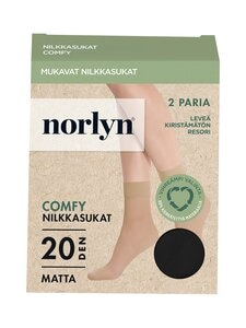 Norlyn - Comfy Matt 20 den -sukat 2-pack - 1210 BLACK | Stockmann