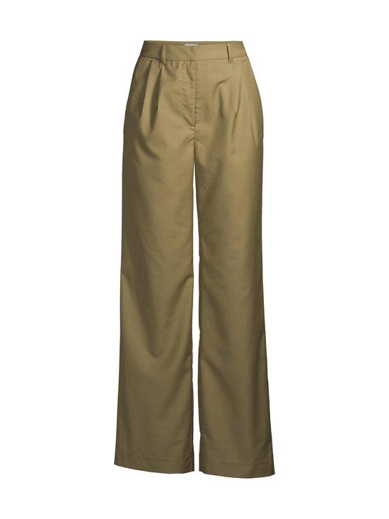 NA-KD - Pleat Detail Suit Pants -housut - OLIVE GREEN | Stockmann - photo 1