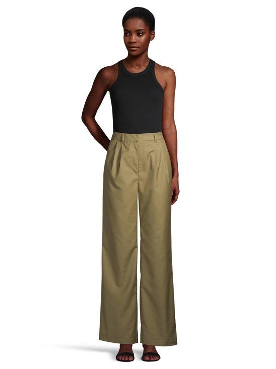 NA-KD - Pleat Detail Suit Pants -housut - OLIVE GREEN | Stockmann - photo 2