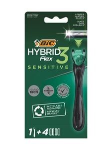 Bic - Hybrid Flex 3 Sensitive Razor -partahöylä ja vaihtoterät 4 kpl | Stockmann