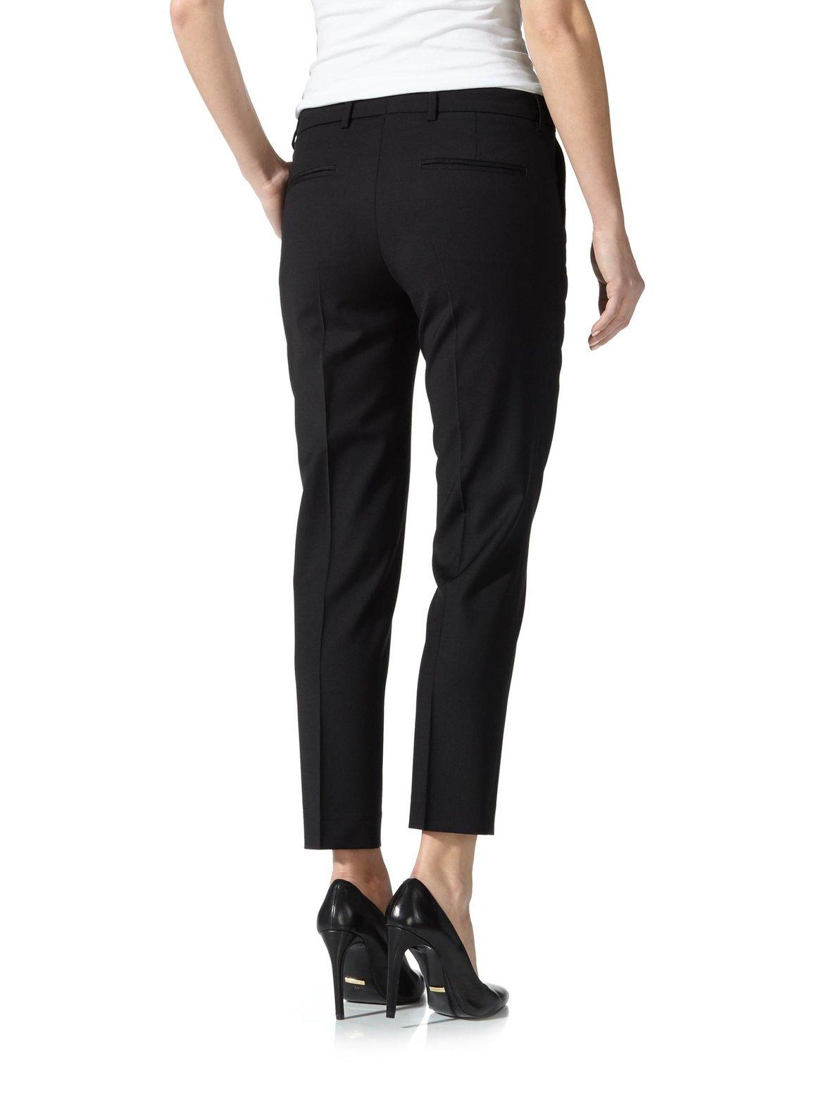 Black (musta) Filippa K Luisa Cropped Cool Wool Slacks -housut 15387 ... 27bf9478816cc