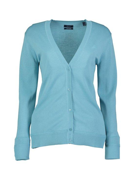 GANT - Light Cotton V-Neck Cardigan -puuvillaneuletakki - 453 SEAFOAM BLUE | Stockmann - photo 1