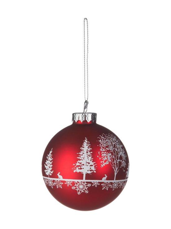 Casa Stockmann - Glass Bauble -joulupallo 8 cm - RED   Stockmann - photo 1