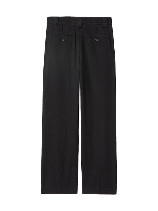 Kenzo - Cropped Pant -housut - 99 - GARMENT DYE COTTON DRILL - BLACK   Stockmann - photo 2