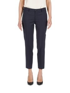 Filippa K - Luisa Cropped Cool Wool Slacks -housut - DARK NAVY (TUMMANSININEN) | Stockmann