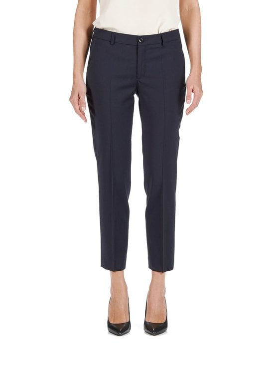 Filippa K - Luisa Cropped Cool Wool Slacks -housut - DARK NAVY (TUMMANSININEN) | Stockmann - photo 1