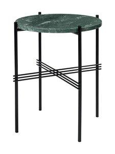 Gubi - TS Side Table -sohvapöytä ⌀ 40 cm - GREEN GUATEMALA MARBLE   Stockmann