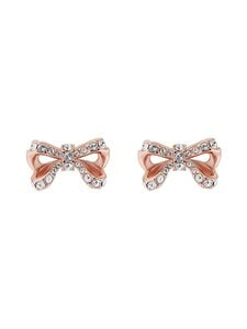 Ted Baker London - Callayy Crystal Petite Bow Stud Earring -korvakorut - ROSE GOLD, CRYSTAL   Stockmann