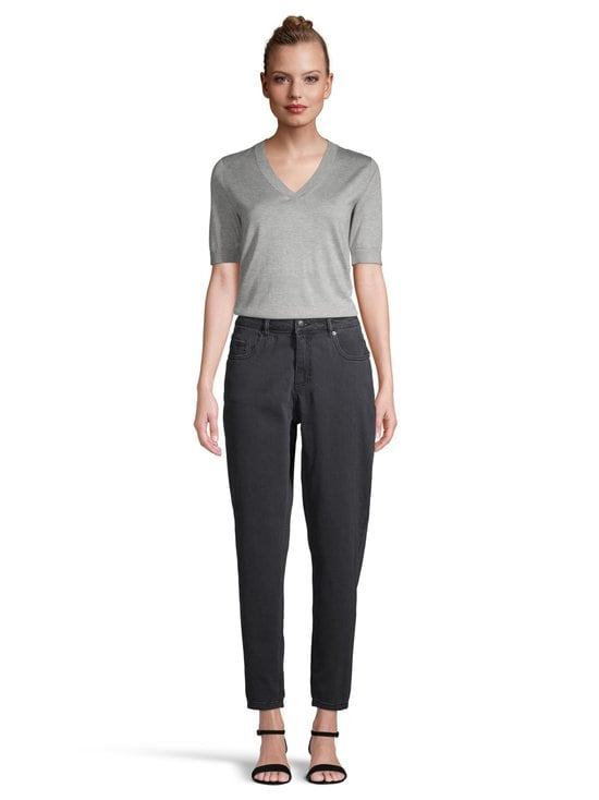 NOOM - Early Mom Jeans Cropped -farkut - WASHED BLACK DNM | Stockmann - photo 2