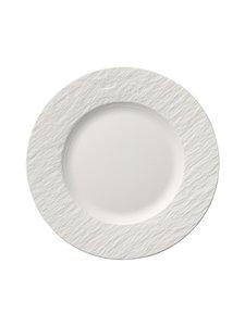 Villeroy & Boch - Manufacture Rock Blanc -lautanen 22 cm - WHITE | Stockmann