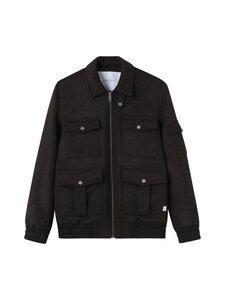 Les Deux - Morrison Wool Bomber Jacket -takki - 820820-DARK BROWN | Stockmann