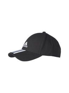 adidas Performance - Baseball 3-Stripes Twill Cap -lippalakki - BLACK/WHITE/WHITE | Stockmann