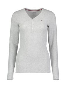 Tommy Hilfiger - Ls Henley -pyjamapaita - PG9 ICE HEATHER | Stockmann