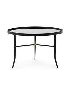 Normann Copenhagen - Lug Table Large -pöytä 44,5 x ⌀ 68 cm - BLACK | Stockmann