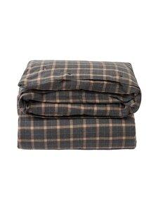 Lexington - Checked cotton flannel duvet cover -pussilakana - 2722 DK GRAY/BEIGE | Stockmann