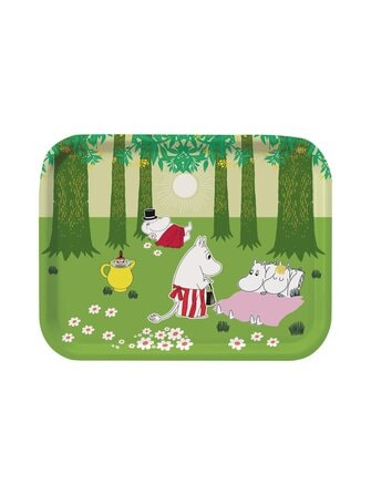 Green Summer plywood tray 27 x 20 cm - Moomin