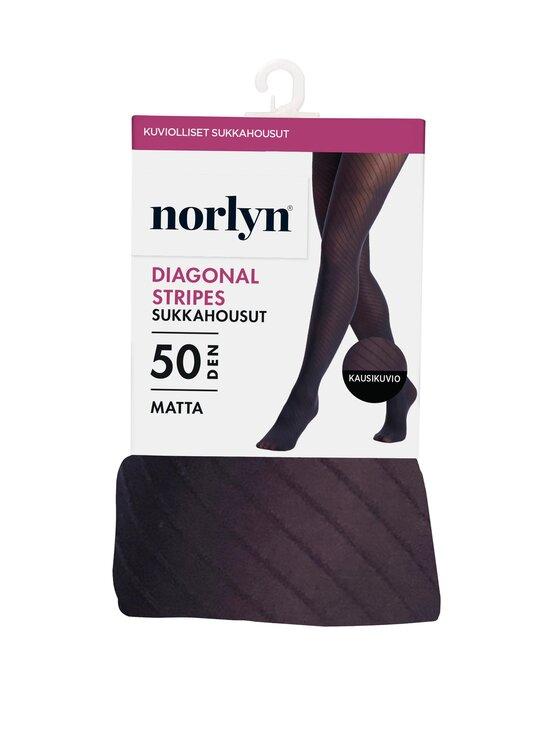 Norlyn - Diagonal Stripes -sukkahousut 50 den - 1210 BLACK | Stockmann - photo 1