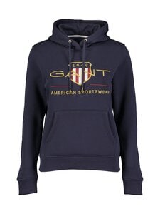 GANT - Archive Shield Sweat Hoodie -huppari - 433 EVENING BLUE | Stockmann