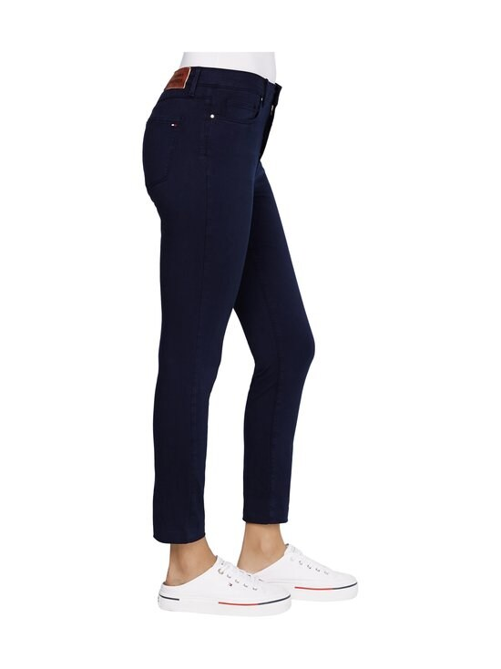 Tommy Hilfiger - Skinny Stretch Cotton Garment Dyed Trousers -housut - DW5 DESERT SKY | Stockmann - photo 4