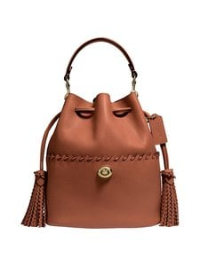 Coach - Lora Bucket Bag With Whipstitch Detail -nahkalaukku - B4/1941 SADDLE | Stockmann