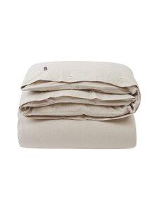 Lexington - Striped organic cotton flannel duvet cover -pussilakana - 2610 BEIGE/OFFWHITE | Stockmann