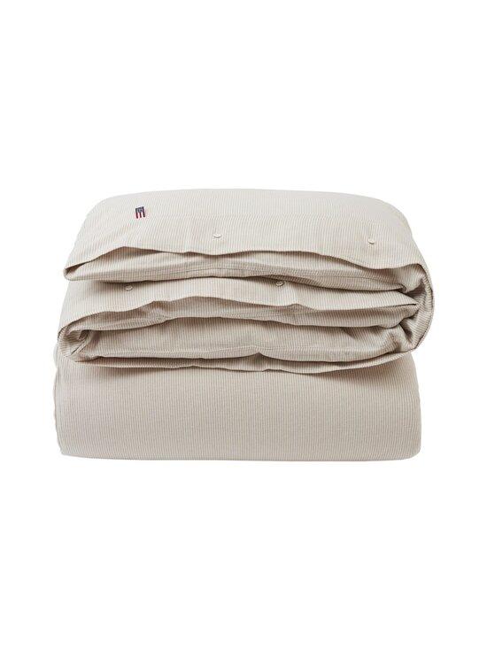 Lexington - Striped organic cotton flannel duvet cover -pussilakana - 2610 BEIGE/OFFWHITE | Stockmann - photo 1