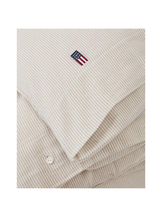 Lexington - Striped organic cotton flannel duvet cover -pussilakana - 2610 BEIGE/OFFWHITE | Stockmann - photo 2