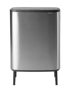 Brabantia - Bo Touch Bin Hi -roska-astia 2 x 30 l - MATT STEEL FINGERPRINT PROOF | Stockmann